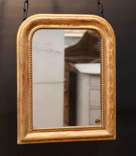 96-53 - Small Gilded Louis Philippe Mirror