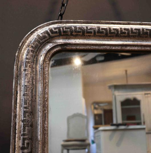 Large Silver French Mirror