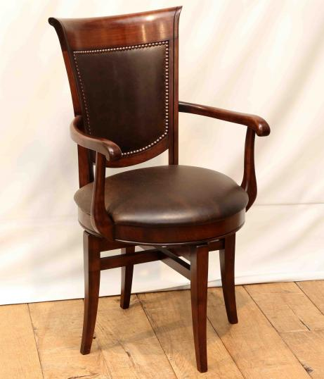 96-55 - A New Cherrywood Swivel Chair from France