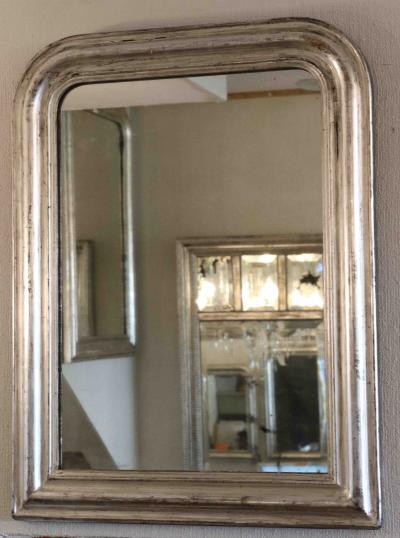 Plain Silver Louis Philippe Mirror