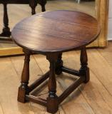 97-01 - Plain Small Jointed Stool with Drop Leaf Top