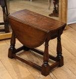 Plain Small Jointed Stool with Drop Leaf Top