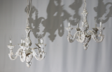 97-03 - Rococo Italian Painted Chandeliers