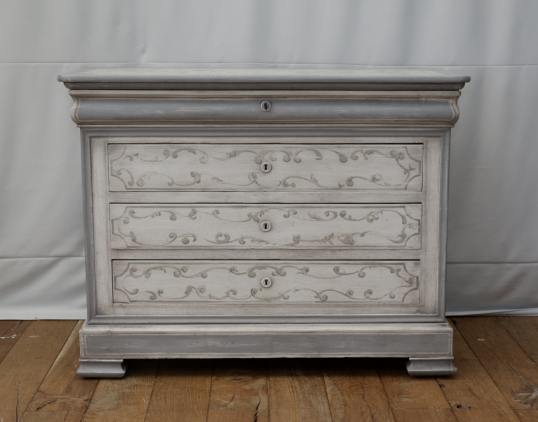 97-04 - Louis Philippe French Painted Commode