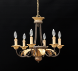 97-09 - Laurel Leaf 6 Light Chandelier