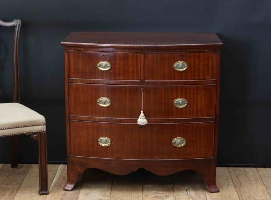 97-62 - Mahogany Bow Fronted Chest of Drawers