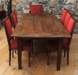 97-85 - French Provincial Cleated Oak Table