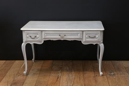 97-90 - Grey and White Painted Bureau Plat or Dressing Table