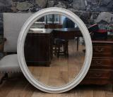 98-51 - Stunning Oval Louis Philippe Mirror with Gesso Finish