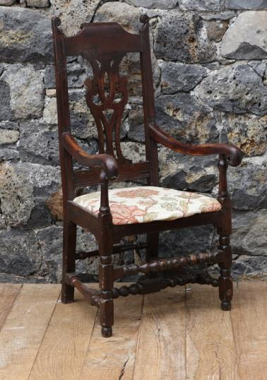 Cromwellian 18th Century Oak Armchair