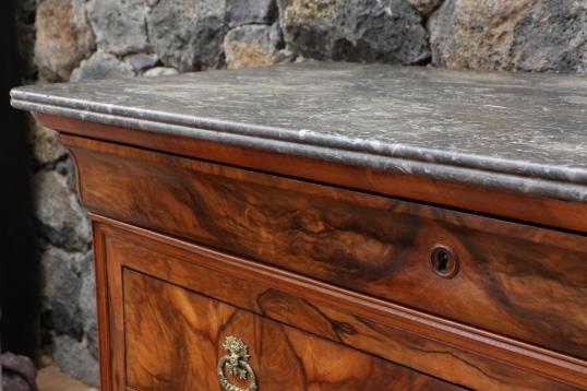 Stunning Louis Philippe Walnut Commode