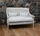 99-39 - Two Seater Cane Bergere Sofa
