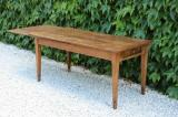 45 small chestnut french provincial dining table with extension leaf