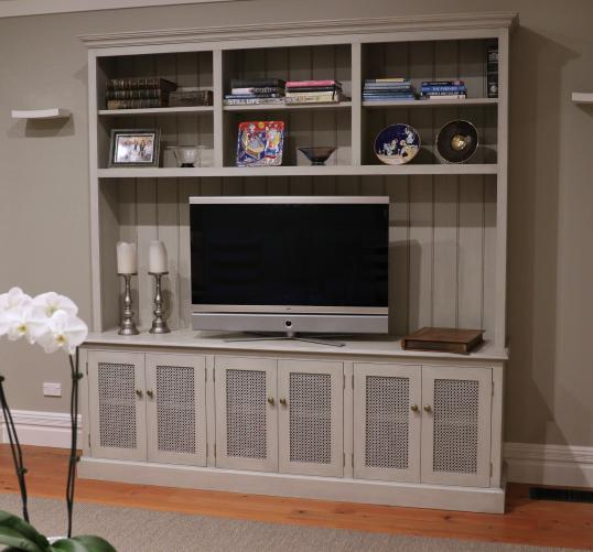 Painted Custom Bookcase