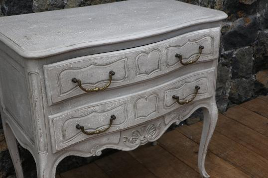 Painted 2 Drawer Side Table