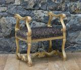 100-01 - French Gilt Stool