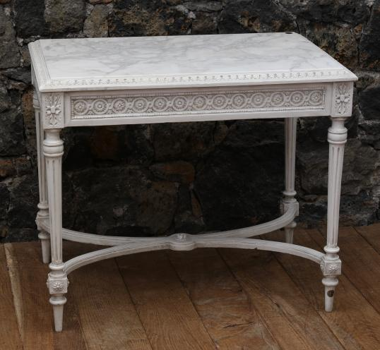French Console with Marble Top