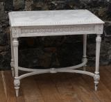 100-18 - French Console with Marble Top