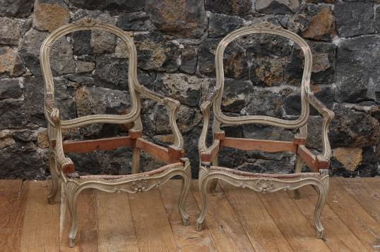 Pair of Louis XV 19th Century Chairs