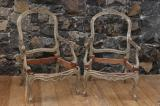 100-25 - Pair of Louis XV 19th Century Chairs