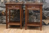 100-46 - Pair of Oak Bedsides