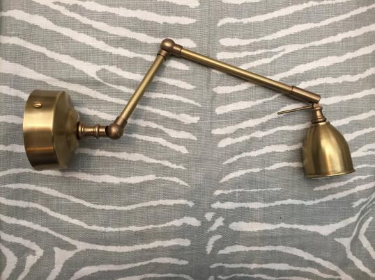 French Brass Wall Light