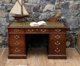 100-60 - English Oak Pedestal Desk