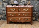 100-61 - Louis XIV Walnut Commode with Itlaian Marble Top