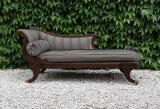 100-96 - Stunning English Empire Chaise Lounge - Regency Period