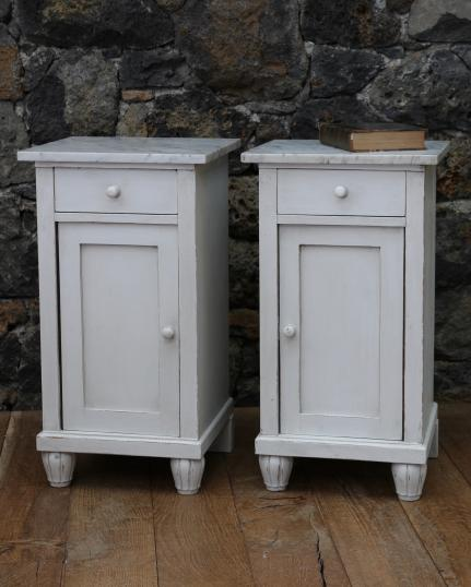 100-97 - Pair of Painted Bedside Tables