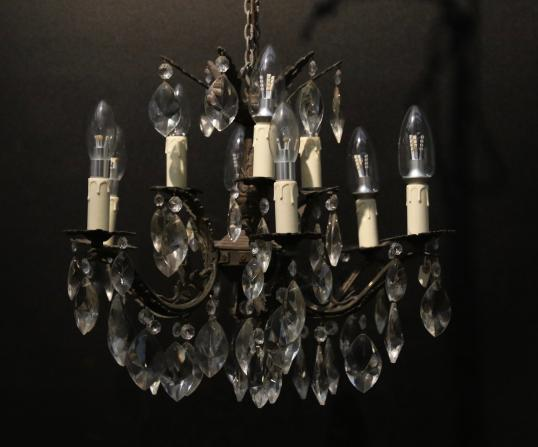 French 9 Light Chandelier