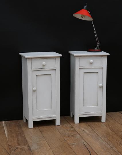 Pair of Painted Swedish Bedsides