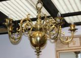 101-39 - Mid 19th Century Brass Chandelier