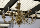 101-42 - Brass Chandelier