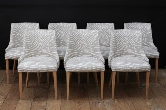 John stephens modern upholstered dining chairs