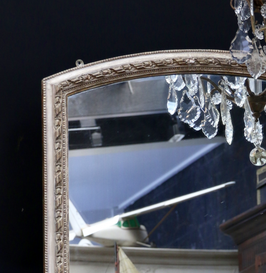 Attractive Full Length 19th Century Arched Top Mirror
