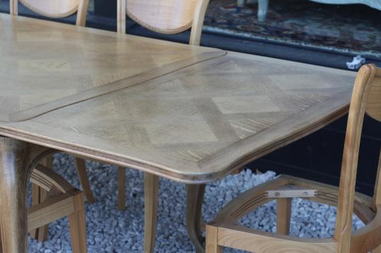 Pale French Parquet Table