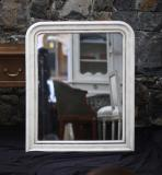 101-93 - Eggshell Painted Louis XV Mirror
