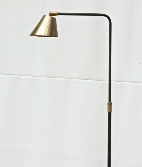 Tall brass floor light (narrow shade)