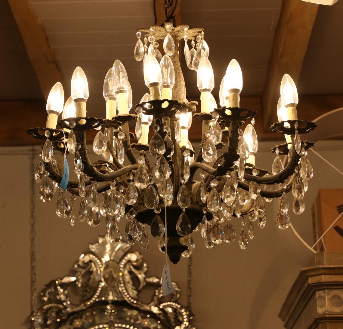 Twenty Light French Chandelier