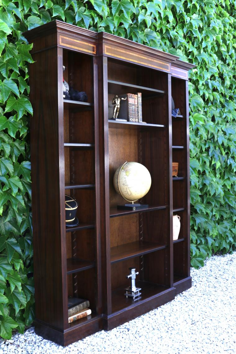 102-73 - English Breakfront Bookcase