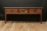 102-74 - Chestnut Three Drawer Side Table