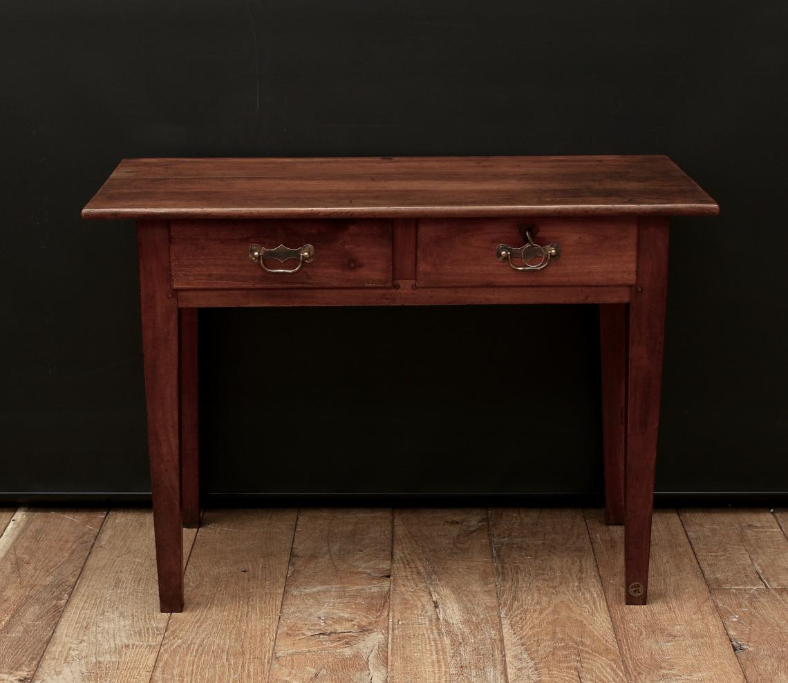 Cherrywood Two Drawer Side Table