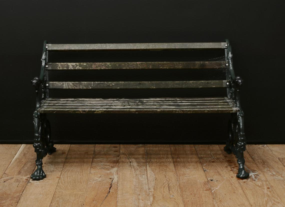 Stunning English Cast Iron Coalbrookdale Benchs and Table