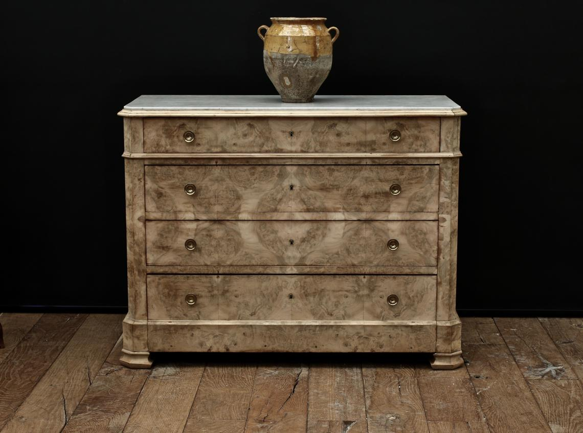 103-14 - Bleached Louis Philippe Commode with Marble Top