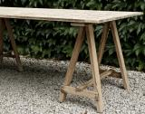 Large French Trestle Table