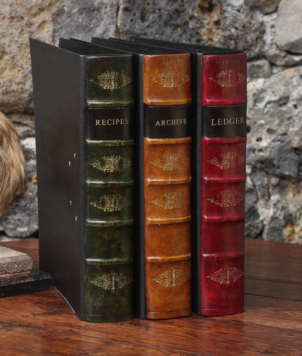John Stephens Faux Books Lever Arch File