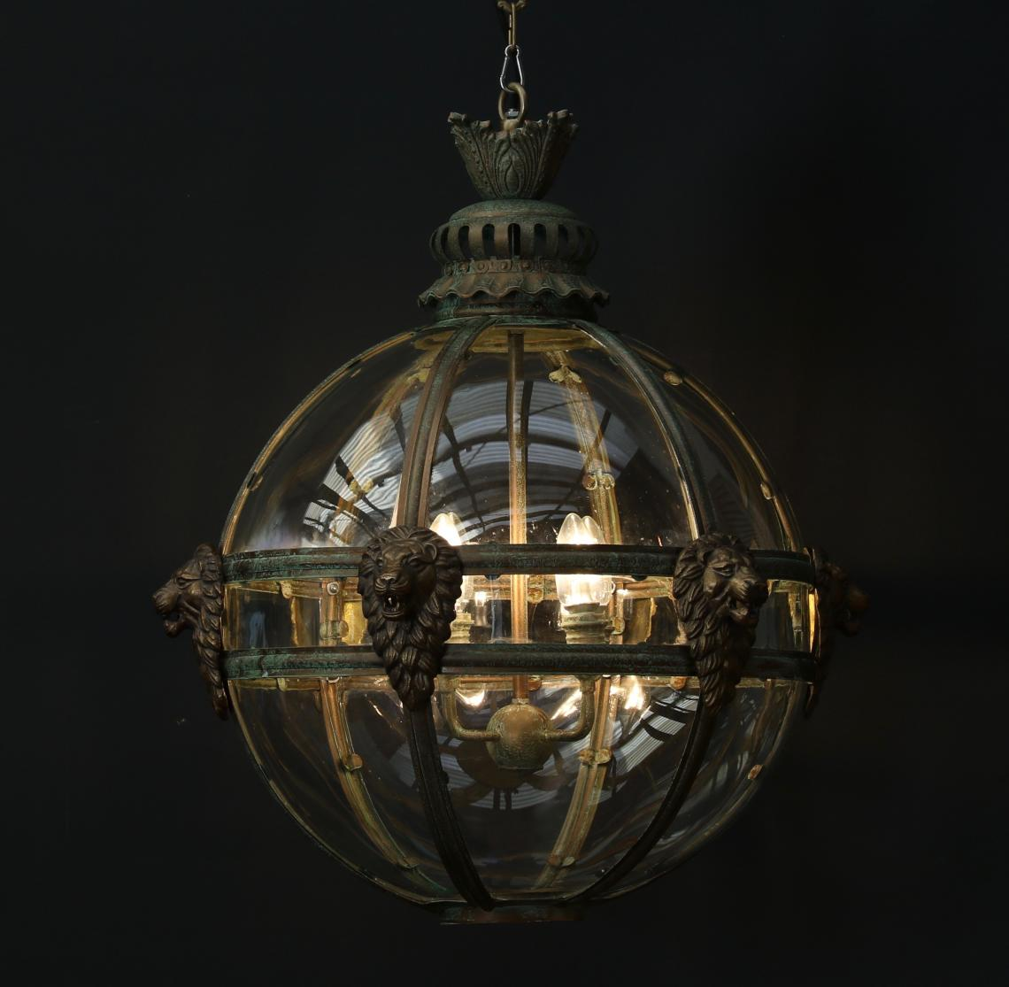 Spherical Globe Lion Lantern