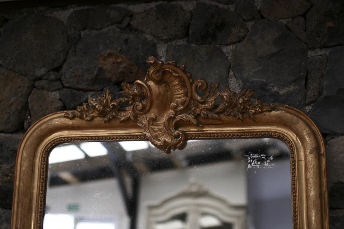 Large Crested Louis Philippe Mirror