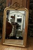 103-83 - Louis Philippe Crested Gold Mirror